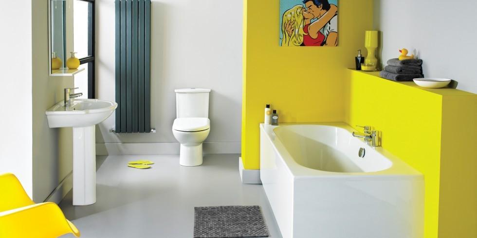 tendencias actuales baño amarillo