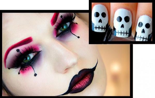 Ideas de maquillajes y nail art para Halloween