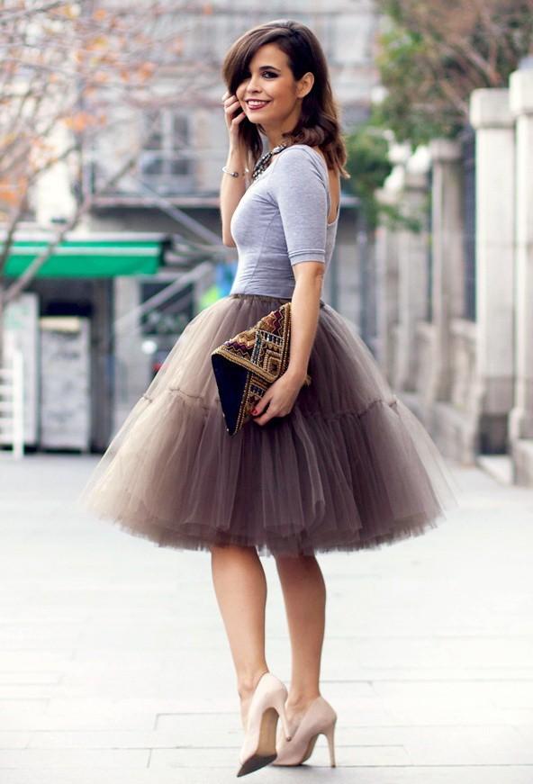 vestidos y faldas de tul