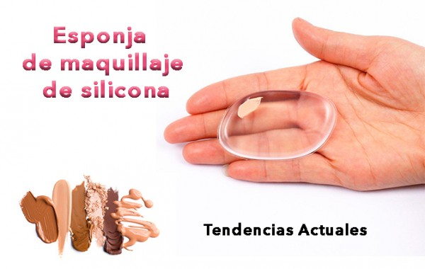 esponja de maquillaje de silicona